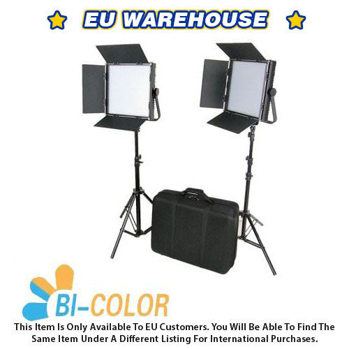 CAME-TV High CRI Bi-Color 2 X 1024 LED Video Lights TV Lighting - European Warehouse