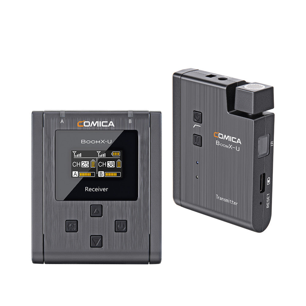 Comica BoomX-U U2 Broadcasting Level 120m Transmission Distance Multi-Functional Wireless Microphone System