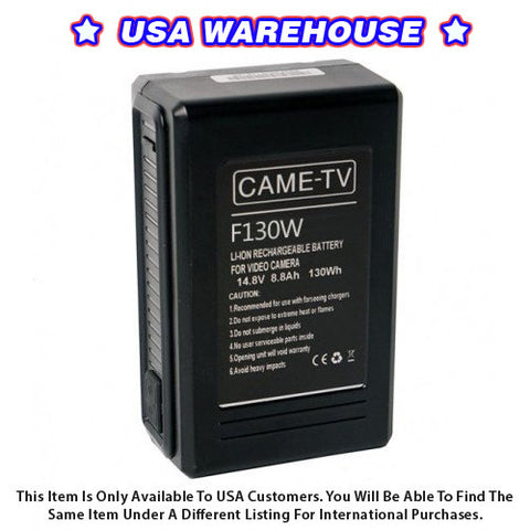 CAME-TV Compact V-Mount Li-Ion Battery 130Wh - USA Warehouse