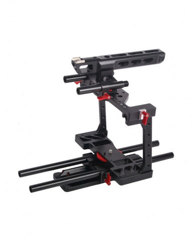 CAME-TV Rig BMCC-01 W/ TOP Handle Dovetail Plate 15mm Rod