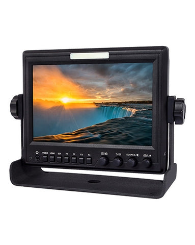 "Pro IPS LCD 7"" Monitor HDMI In SDI Out With Scopes"