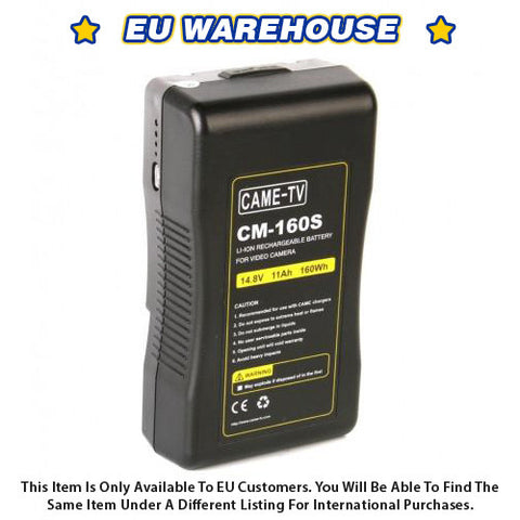 CAME-TV 160Wh Battery Sony V Mount For Camera Camcorder Battery - European Warehouse