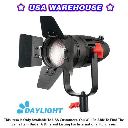 1 Pc CAME-TV Boltzen 30w Fresnel Fanless Focusable LED Daylight With Bag - USA Warehouse