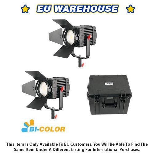 2 Pcs CAME-TV Boltzen 100w Fresnel Fanless Focusable LED Bi-Color Kit - European Warehouse