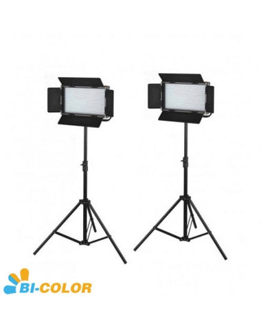 2X576 LED Light Dimmable Bi-Color 5600K 3200K Digital Display