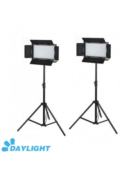 2X576 LED Light Dimmable Daylight 5600K Digital Display V Mount