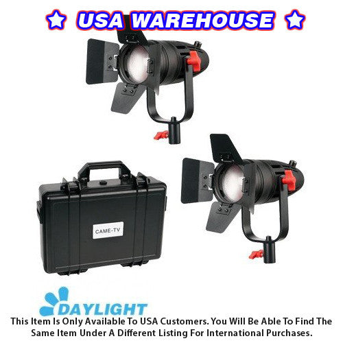 2 Pcs CAME-TV Boltzen 30w Fresnel Fanless Focusable LED Daylight Kit - USA Warehouse