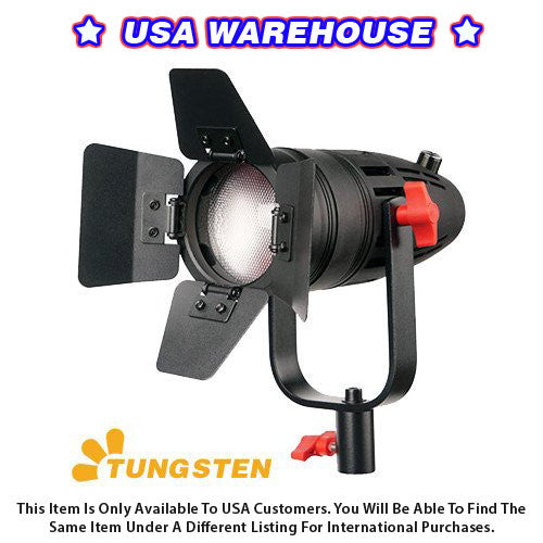 1 Pc CAME-TV Boltzen 30w Fresnel Fanless Focusable LED Tungsten With Bag - USA Warehouse
