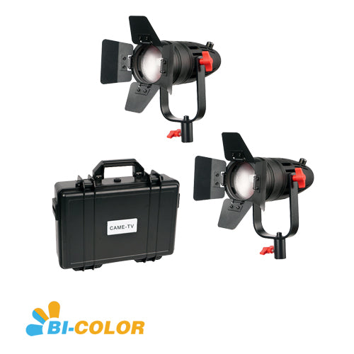 2 Pcs CAME-TV Boltzen 30w Fresnel Fanless Focusable LED Bi-Color Kit