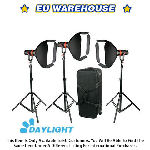 3 Pcs CAME-TV Boltzen 55w Fresnel Focusable LED Daylight Package - European Warehouse
