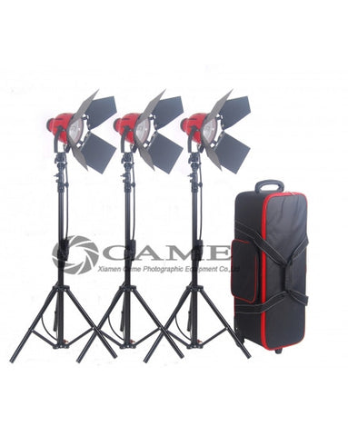 3 X 800W Pro Red Head Redhead Continuous Light Lighting + Stands