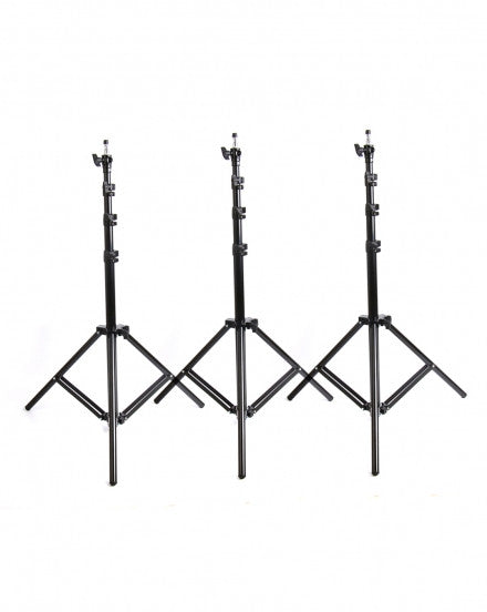 3 X Light Stands Max Work 2.4m Air-cushion