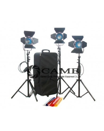 3×150W Fresnel Tungsten Spot Video Studio Film Light