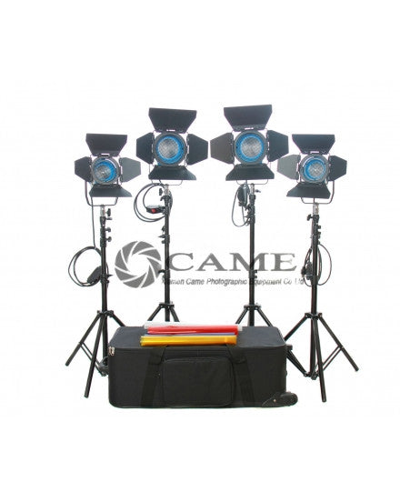 4pcs Light (2×650W+2×300W) Fresnel Tungsten Video Studio Lights