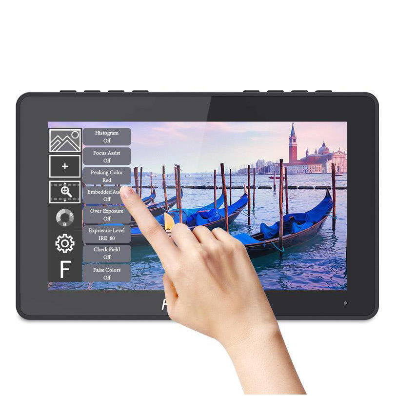F5 Pro 5.5 Inch Touch Screen DSLR Camera Field Monitor IPS FHD1920x1080 4K HDMI Input Output Tilt Arm Power Output F970 Install and Power Kit to External Wireless transmission LED Light