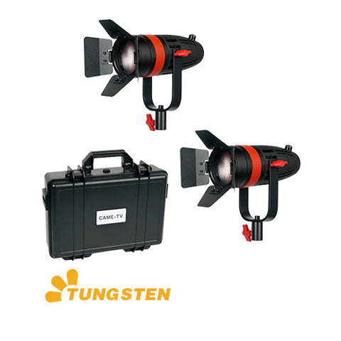 2 Pcs CAME-TV Boltzen 55w Fresnel Focusable LED Tungsten Kit