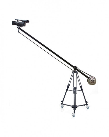 7.9 Foot Video Camera Crane Jib Arm Portable Pan Tilt Crane Jib