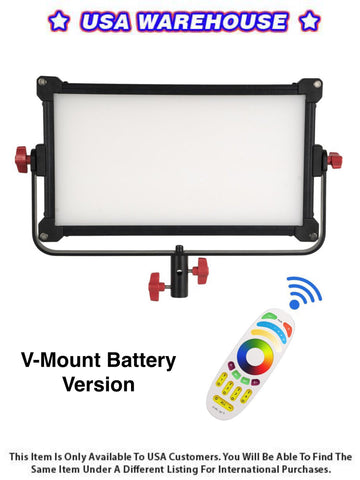 Boltzen Perseus RGBDT 75 Watt Slim LED Light P-75RV (V-Mount battery version) - USA Warehouse