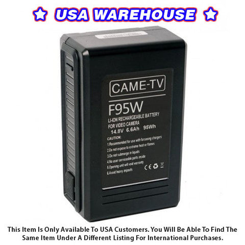 CAME-TV Compact V-Mount Li-Ion Battery 95Wh - USA Warehouse