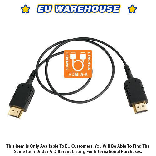 CAME-TV 2 Foot Ultra-Thin and Flexible HDMI Cable AA - European Warehouse