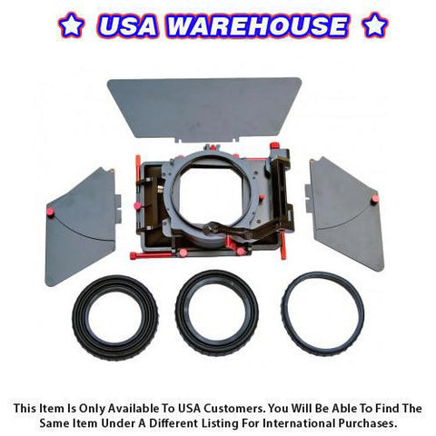 CAME-TV DSLR Rigs ABS 4 X 4 Matte Box For A7S 7D 5D2 5D3 Camera - USA Warehouse