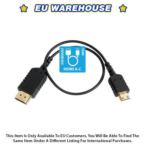 CAME-TV 1 Foot Ultra-Thin and Flexible HDMI Cable AC - European Warehouse