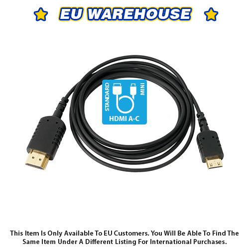 CAME-TV 6 Foot Ultra-Thin and Flexible HDMI Cable AC - European Warehouse