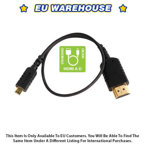 CAME-TV 1 Foot Ultra-Thin and Flexible HDMI Cable AD - European Warehouse