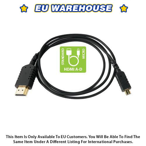 CAME-TV 3 Foot Ultra-Thin and Flexible HDMI Cable AD - European Warehouse