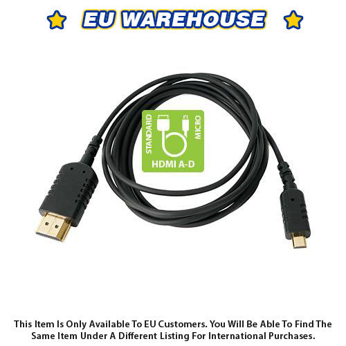 CAME-TV 6 Foot Ultra-Thin and Flexible HDMI Cable AD - European Warehouse