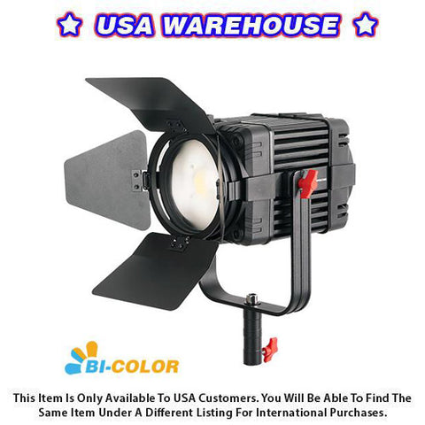 1 Pc CAME-TV Boltzen 100w Fresnel Fanless Focusable LED Bi-Color - USA Warehouse