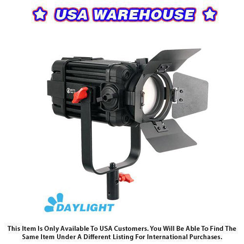 1 Pc CAME-TV Boltzen 60w Fresnel Fanless Focusable LED Daylight - USA Warehouse