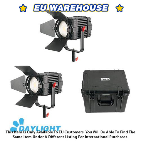 2 Pcs CAME-TV Boltzen 100w Fresnel Fanless Focusable LED Daylight Kit - European Warehouse