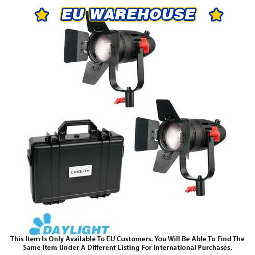 2 Pcs CAME-TV Boltzen 30w Fresnel Fanless Focusable LED Daylight Kit - European Warehouse