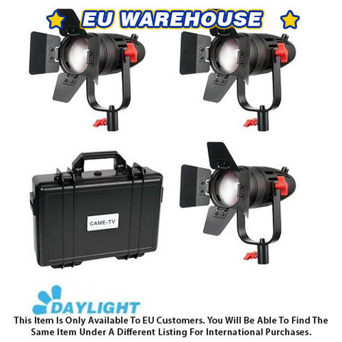 3 Pcs CAME-TV Boltzen 30w Fresnel Fanless Focusable LED Daylight Kit - European Warehouse