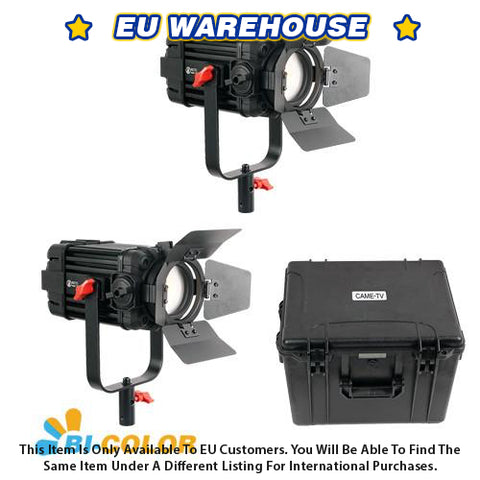 2 Pcs CAME-TV Boltzen 60w Fresnel Fanless Focusable LED Bi-Color Kit - European Warehouse