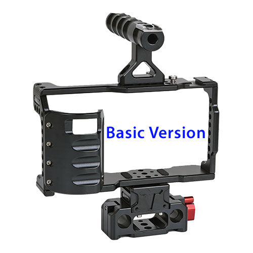 CAME-TV BMPCC 4K Cage With Grip And Rod Base For BlackMagic Pocket Cinema Camera