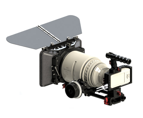 BMPCC-PACK CAME-TV Cage for BlackMagic Pocket Cinema Camera w/ Mattebox Follow Focus