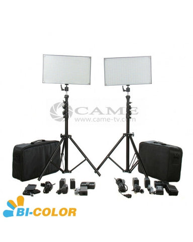 Batteries+Bi-Color 1016 LED Video Light Panel Studio Film Light