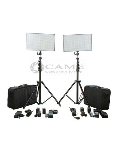 Batteries+Bi-Color 1752 LED Video Light Panel Studio Film Light