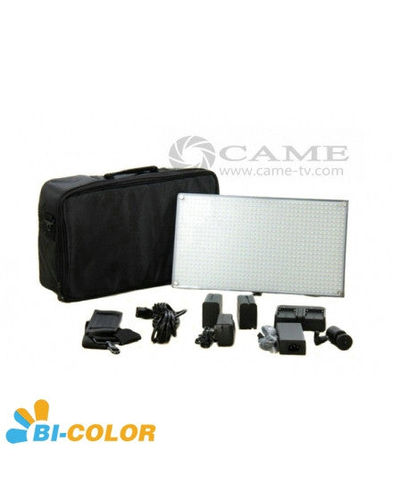 Batteries + Bi-Color 508 LED Video Light Panel Studio Film Light