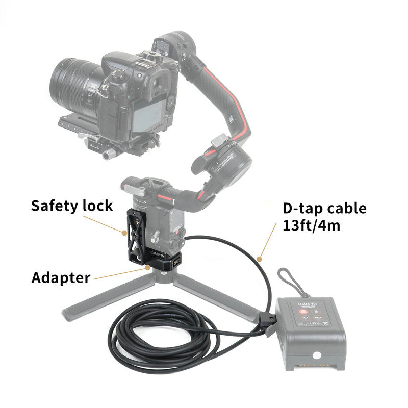 CAME-TV Base Adapter With D-Tap For DJI Ronin RS2 Gimbal MKII