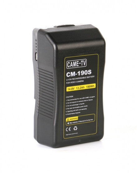 CAME-TV 190Wh Battery Sony V Mount For Camera Camcorder Battery