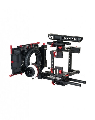 CAME-TV BMCC Rig Mattebox A/B Follow Focus 15mm Rod Blackmagic