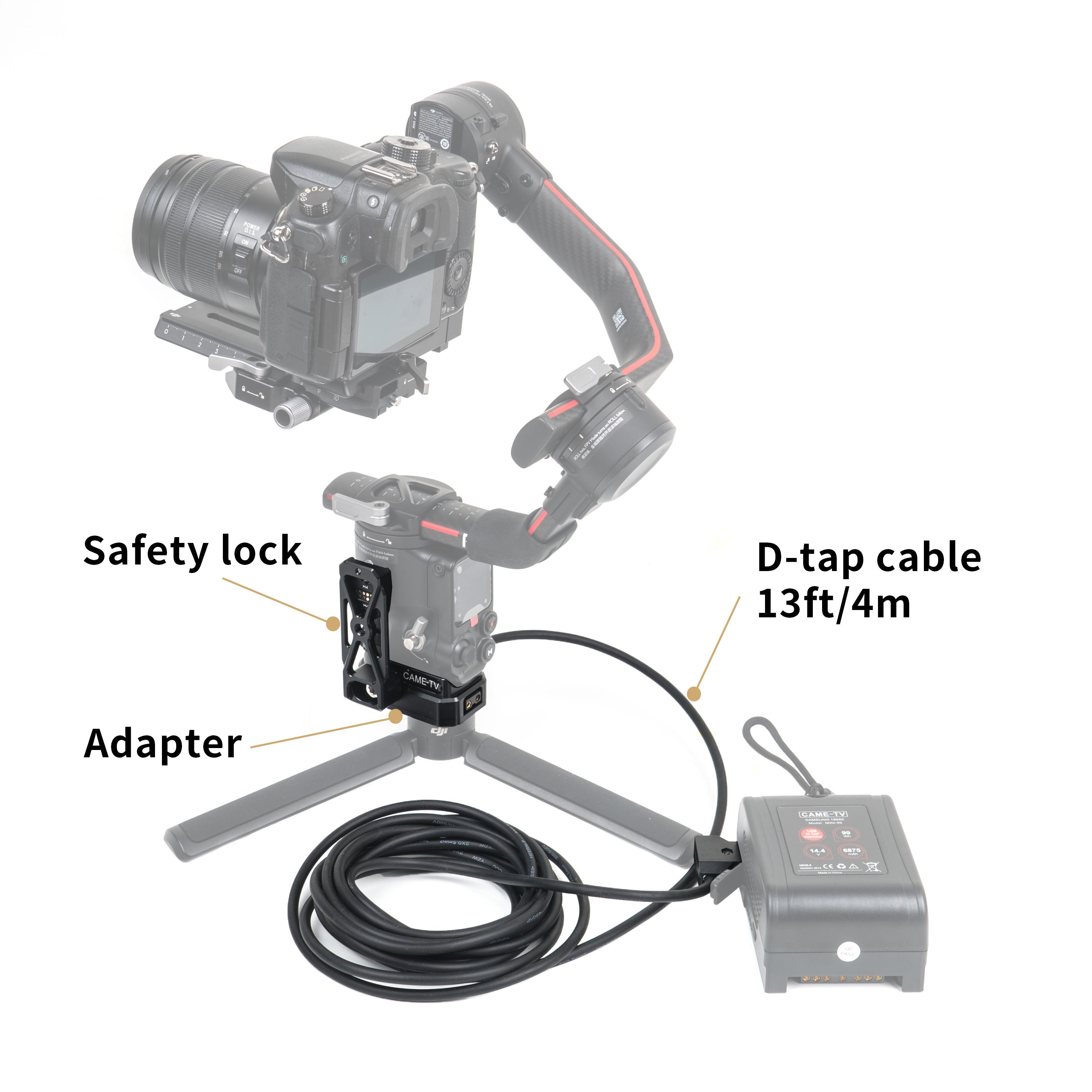 CAME 2-12kg Load Pro Camera Video Stabilizer With Aluminum Case