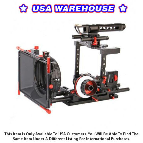 CAME-TV DSLR Cage For GH4 & SONY A7s & 5D Mark III - USA Warehouse
