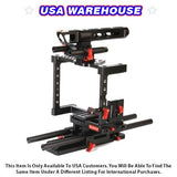 CAME-TV DSLR Cage Rigs For GH4 & SONY A7s & 5D Mark III - USA Warehouse