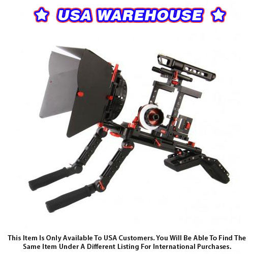 CAME-TV DSLR Cage W/ Hand Grip For GH4 & SONY A7s & 5D Mark III - USA Warehouse
