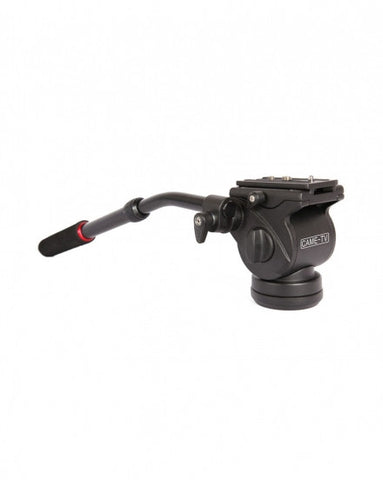 CAME-TV Fluid Pan Tilt Video Head W Handle For Tripod