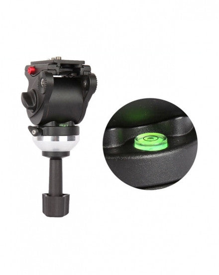 CAME-TV Fluid Pan Tilt Video Tripod Head W Handle
